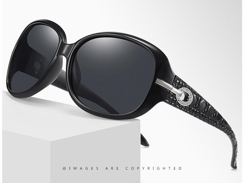 Polarized Lenses Polished Rounded Oversize Sunglasses