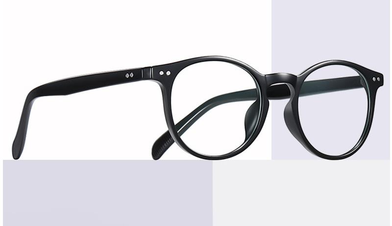 Retro Shaped Frame Clear Lens Blue Light Blocking Glasses