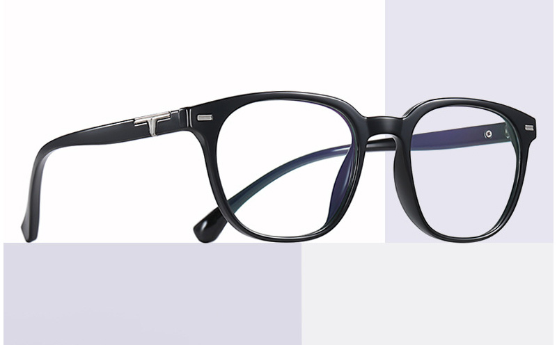 Round Horn Rimmed Frame Blue Light Glasses