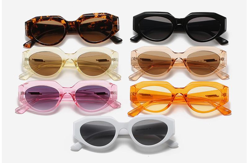 Square Corner Frame Oval Lenses Fashion Sunglasses
