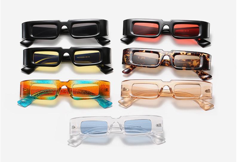 Funky rectangular rainbow frame women's sunglasses